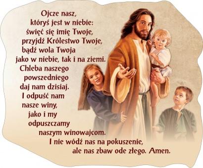Magnes z modlitwą Ojcze Nasz